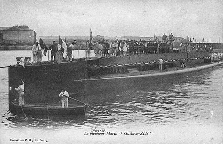 Sous-marin GUSTAVE ZEDE 1913