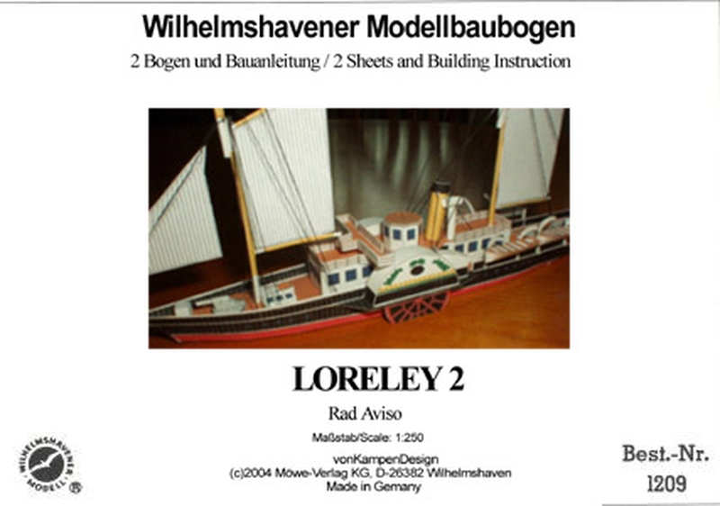 Plan Steamer Loreley-2 - WILHELMS