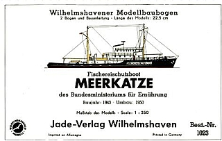 Plan Fishingboat Meerkatze - WILHELMS
