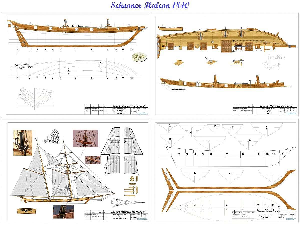 Free plans tall ships halconschooner1840g pooptronica Choice Image