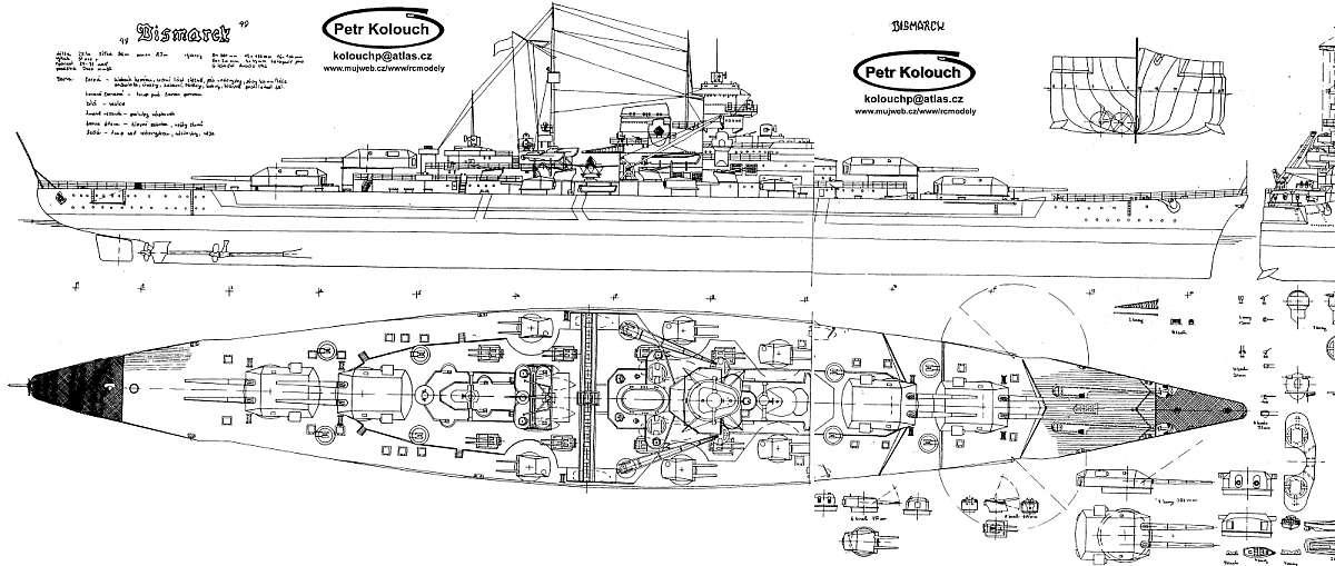 Free plans modern warfare ships planbattleshipbismarck1940g battleship bismarck 1940 malvernweather Images