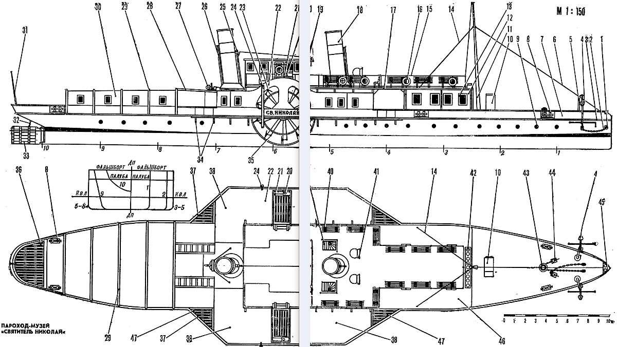 Колесный пароход своими руками 94