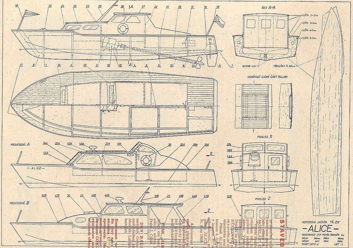 Free plans power ships motorboats for Boat cabin plans