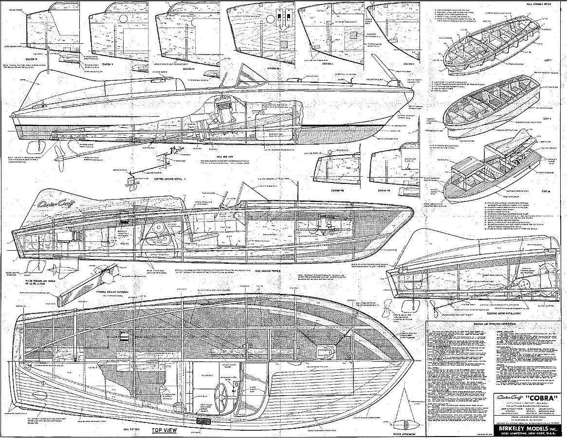 Free Plans: POWER SHIPS - MOTORBOATS