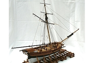 BERMUDA sloop XVII century - ship model