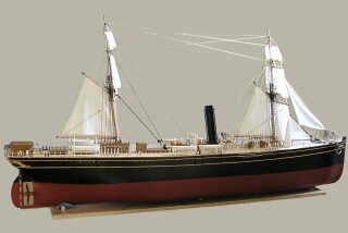 SS CIMBRIA 1867, Hammonia class ocean liner ship model