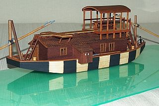 DESDEMONA hungarian fluvial barge model