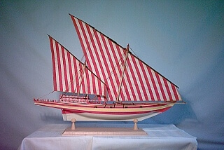 Arabic Dhow or Ghanjhah ca. 1800 - ship model