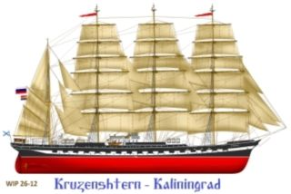 Kruzenshtern training vessel full-rigged clipper
