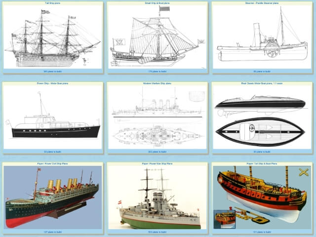 Free Ship Model Plans & Drawings