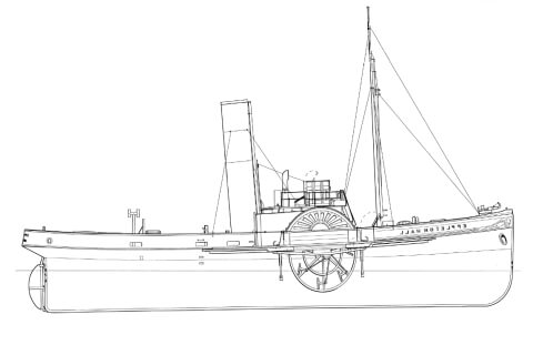 Free plans collection steamer paddle steamer plans plans of steamers paddle steamers models malvernweather Images