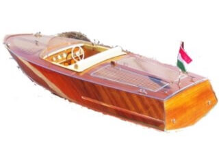Classic runaboat of the 60's model
