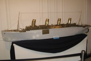 Titanic, ship model of brass