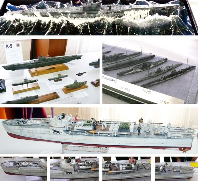 World War II. collection of ship models