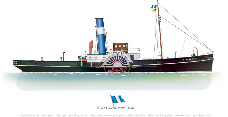 SHIPMODELL: STRONGBOW steam tug